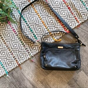 Kate Spade Black Leather Shoulder/Crossbody Bag